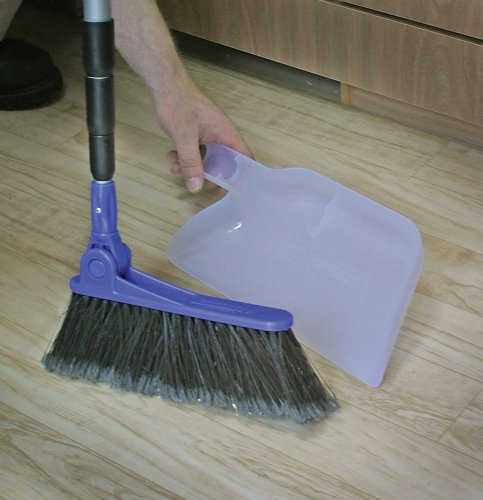Amazon.com: RV Adjustable Broom and Dustpan We love this broom! It's telescoping handle makes it store very small, but it's full size and very RV compatible!