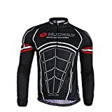 Nuckily Men's Cycling Long Sleeve Jacket Bicycle Shirt Cycling Clothing T-Shirts Cycling Jersey