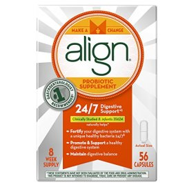 Align Probiotic Supplement, 24/7 Digestive Support with Bifantis, 56 Capsules