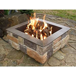 Amazon.com : Firescapes Smooth Ledge Square Propane Fire