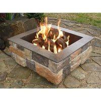 Amazon.com : Firescapes Smooth Ledge Square Propane Fire ...