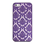 Carved Damask Vintage Pattern Matte Hard Case Cover For IPhone 5 5S (Purple)