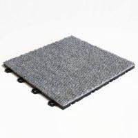 BlockTile B4US4620 Interlocking Carpet Tiles Premium, Gray ...