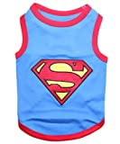 Parisian Pet Superman Dog T-Shirt, Medium