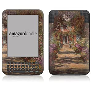 "DecalGirl Kindle Skin (Fits 6"" Display, Latest Generation Kindle) Monet - Garden at Giverny (Matte Finish)"