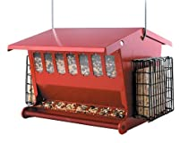 Heritage Farms Seeds n More Metal Hopper Bird Feeder