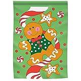 """Gingerbread Christmas 13"""" x 18"""" Applique Garden Flag"""