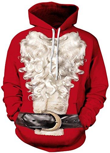 TDOLAH Herren 3D Druck Sweatshirts Weihnachten Pullover mit Aufdruck Herbst Hemd Kapuzenpullover Langarm Top Jumper Shirt