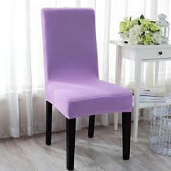 Wedding Chair Covers Lilac Ladder Back Dining Uxcella Stretchy Removable Washable Seat Hotel Room Ceremony Kitchen Bar Cover Restaurant Part Decor Light Purple