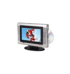 audiovox fpe1078 7 8 inch flat panel tv with slot load dvd player electronics [ 960 x 960 Pixel ]