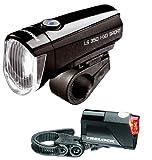 TRELOCK LED Leuchten Set LS 350/710 I-Go Sport Reego schwarz ~ 15 Lux