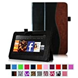 Fintie (Dual-Color) Slim Fit Leather Case Cover Auto Sleep/Wake for Kindle Fire HD 7