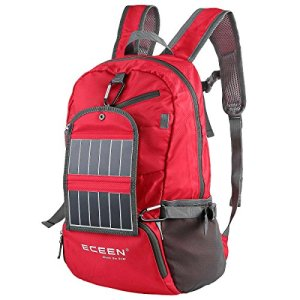 ECEEN-Backpack-Daypack-with-Moveable-Solar-Panel-Charger-35L-Water-Resistant-Packable-Backpack-Hiking-Daypack-Ultralight-and-Handy