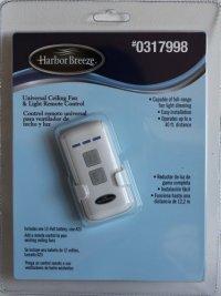 Harbor Breeze Universal Ceiling Fan & Light Remote Control