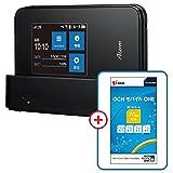 NEC Aterm MR03LN【OCN モバイル ONE マイクロSIM付きセット】クレードル付属 LTE対応 SIMフリーモバイルルーター 月額900円(税抜)~