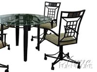 Dining Arm Chairs with Casters: Amazon.co.uk: Kitchen & Home