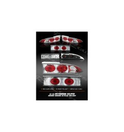 mitsubishi eclipse tail lights chrome red clear altezza taillights 1995 1996 1997 1998 1999 95 96 97 98 99 [ 960 x 960 Pixel ]