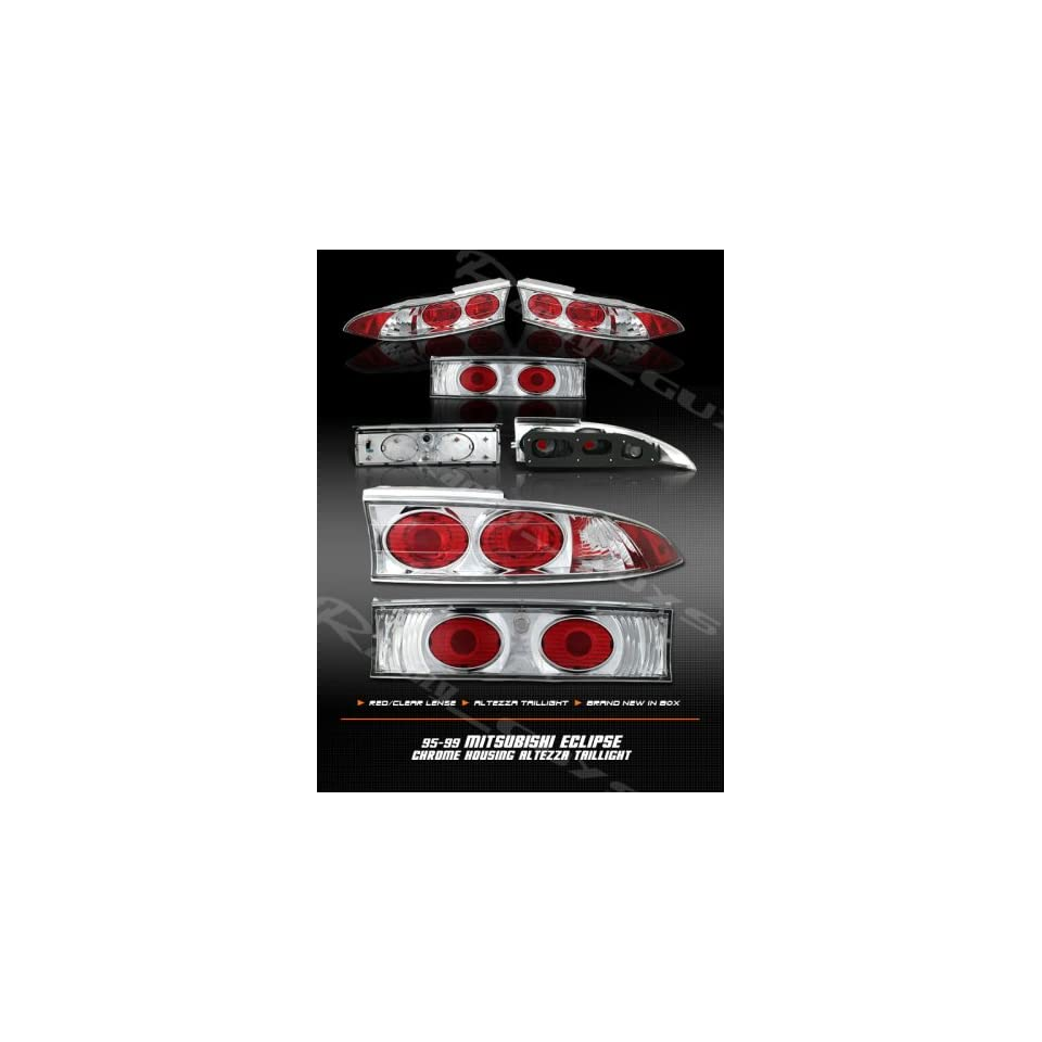 hight resolution of mitsubishi eclipse tail lights chrome red clear altezza taillights 1995 1996 1997 1998 1999 95 96 97 98 99