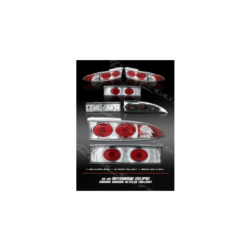 small resolution of mitsubishi eclipse tail lights chrome red clear altezza taillights 1995 1996 1997 1998 1999 95 96 97 98 99