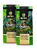 Cafe Britt Costa Rica Organic Bajo Sombra Whole Bean Coffee, 12-Ounce Bags (Pack of 2)