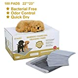 Favorite® 22 Inch by 23 Inch Bamboo Charcoal Floor Protection Dog Training Pads/ Puppy Training Pads Absorbs Smell and Urine/Housebreaking Pads for Dogs/Potty Training for House Doggies