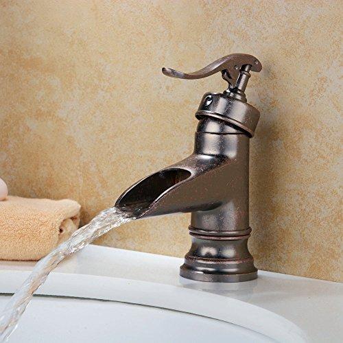 Hiendure Centerset Single Handle Rustic Bronze Bathroom