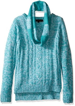 Derek-Heart-Big-Girls-Cable-Sweater-with-Infinity-Scarf-Blue-Cream-Small-7-8