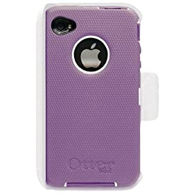 OtterBox Universal Defender Case for iPhone 4 (Purple Silicone & White Plastic)