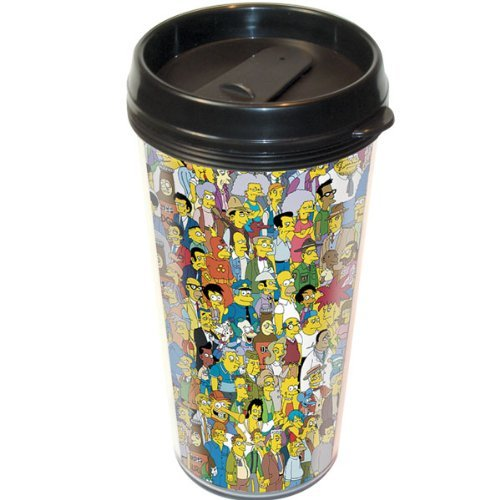 The Simpsons Springfield Travel Mug