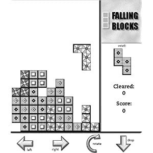 Falling Blocks  (An Arcade-Style Tile-Matching Puzzle Game for Kindle) by Play Gray