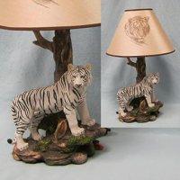 Bengal White Tiger Lamp ~ Unique Tree Base Illuminated ...