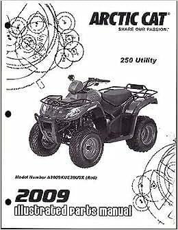 2009 Arctic Cat ATV 250 Utility Parts Manual p/n 2258-324
