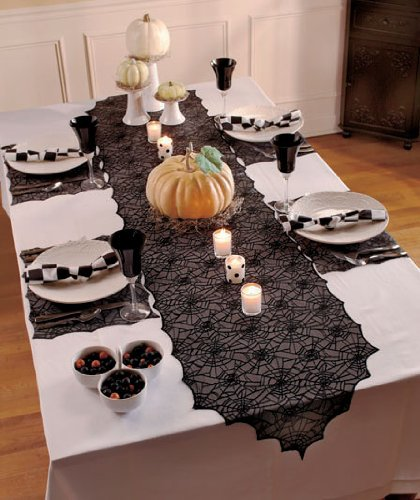 Spider Web Lace Table Set