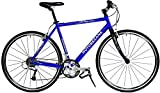 "Motobecane Cafe Sprint 700C Hybrid Bike 27 Speed Carbon Fiber fork bike gloss blue 21"" frame"