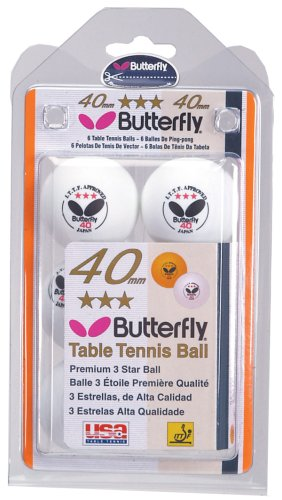 Butterfly B3w640c Ittf Approved 3star 40mm Table Tennis
