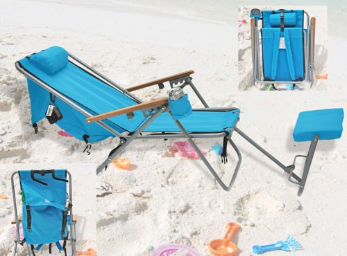 reclining beach chair with footrest used all purpose styling chairs plus size for heavy people big wearever rio brands