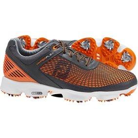 Footjoy 51015 M095 Hyperflex Mens Golf Shoes, Grey & Orange - 9.5 Medium