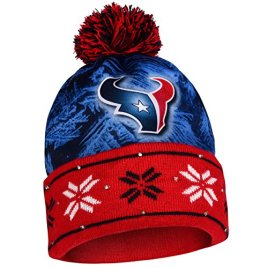 NFL Big Logo Light Up Printed Beanie Knit Cap (Houston Texans)