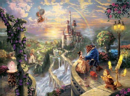 西洋絵画 ディズニー 美女と野獣 Beauty and the Beast トーマスキンケード [並行輸入品]