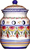 Ceramic Garlic Keeper from Spain. Multicolor Pattern