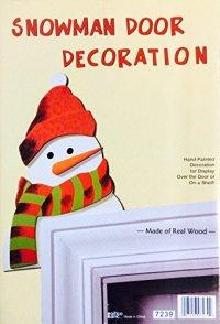Santa Snowman Christmas Door Decoration-Wooden Holiday ...