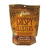 Pure Organic Crispy Clusters, Bite Size Snacks, Salted Caramel, 5 Ounce