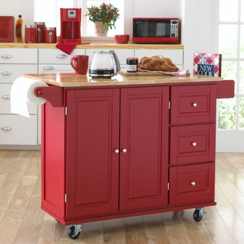 Best Buy Kitchen Cart Sundance  Black Red White with