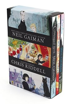 Neil Gaiman/Chris Riddell 3-Book Box Set: Coraline; The Graveyard Book; Fortunately, the Milk by Neil Gaiman| wearewordnerds.com