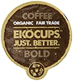 EKOCUPS Organic Artisan Coffee Bold , Dark roast for Keurig K-cup single serve Brewers, 40 count