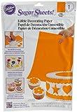 Wilton Solid Orange Sugar Sheet- Discontinued By Manufacturer