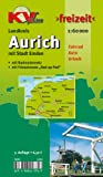 Aurich Landkreis mit Stadt Emden 1 : 60 000: Freizeitkarte mit beschilderten Radroutennetz und touristischen Radrouten der Region