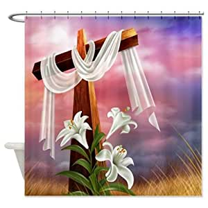 Amazoncom  Religious Easter Shower Curtain