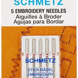 Euro-Notions Embroidery Machine Needles, Size 11/75, 5-Pack