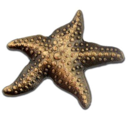 3D-Starfish-Antique-Bronze-Lapel-Pin